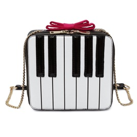 Ericdress Piano Keys Pattern Crossbody Bag