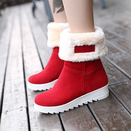 Ericdress Fuzzy Platform Slip-On Women's Snow Boots