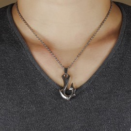 Ericdress Fish Hook Pendant Necklace for Men