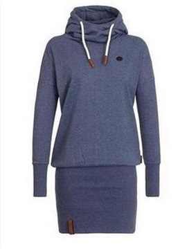 Ericdress Mid-Length Plain Hooded Sweatshirt