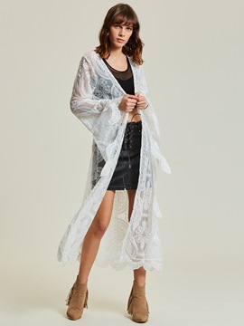 Ericdress Thin Plain Lace Floral Women's Cape