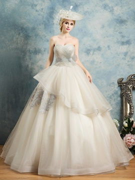 Ericdress Sweetheart Appliques Bowknot Pleats Quinceanera Dress