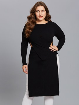 ericdress plus-size hohle lange Strickwaren