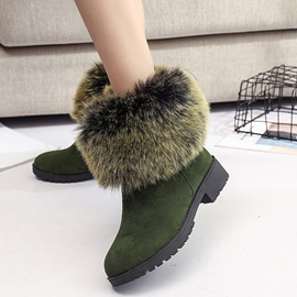 Ericdress Fuzzy Slip-On Plain Women's Snow Boots