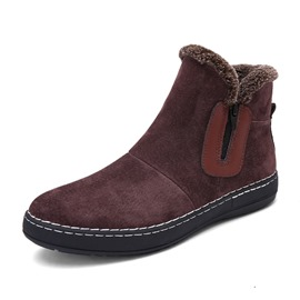 Ericdress Plain Side Zipper Men's Snow Boots