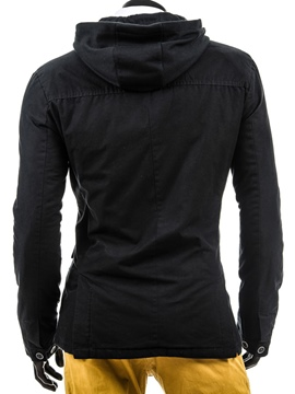 Ericdress Hooded Slim Lace-Up Men's Jacket