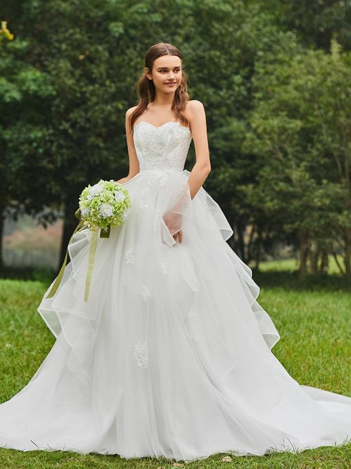 Ericdress Sweetheart Ball Gown Appliques Wedding Dress