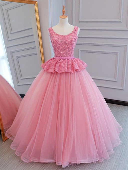 Ericdress Beading Bowknot Lace Ball Quinceanera Dress