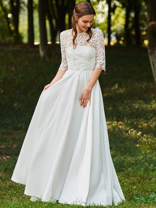 Ericdress Half Sleeves Lace Country Wedding Dress