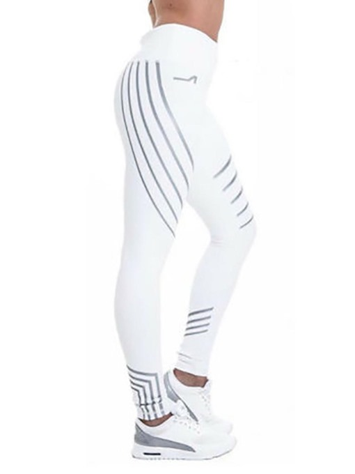 Ericdress Striped Skinny Sports Women's Leggings Pants