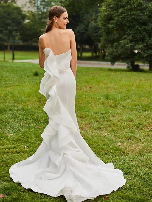 Ericdress Sweetheart Mermaid Ruffles Outdoor Wedding Dress
