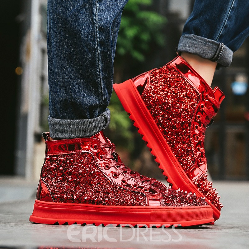 Ericdress Rivet&Sequin Round Toe Men's Sneakers