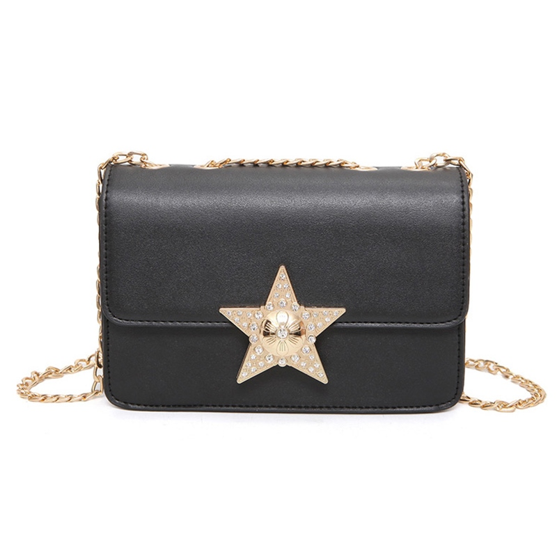 Ericdress Five-Pointed Star Decoration Chain Crossbody Bag