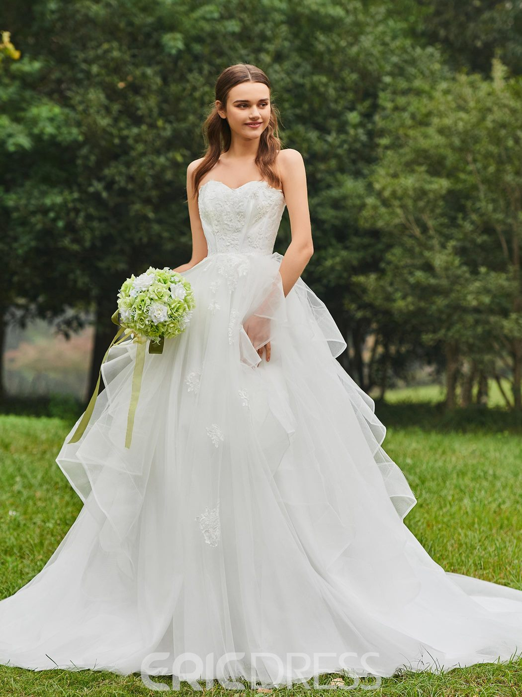 Ericdress Sweetheart Ball Gown Tulle Appliques Wedding Dress ...