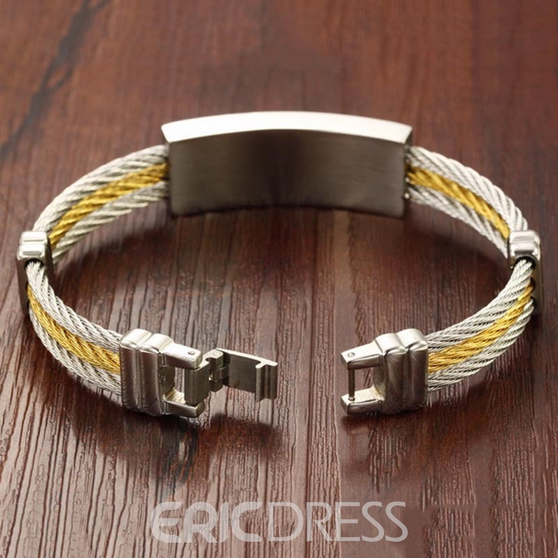 Ericdress Classic Cross Titanium Steel Men's Bracelet