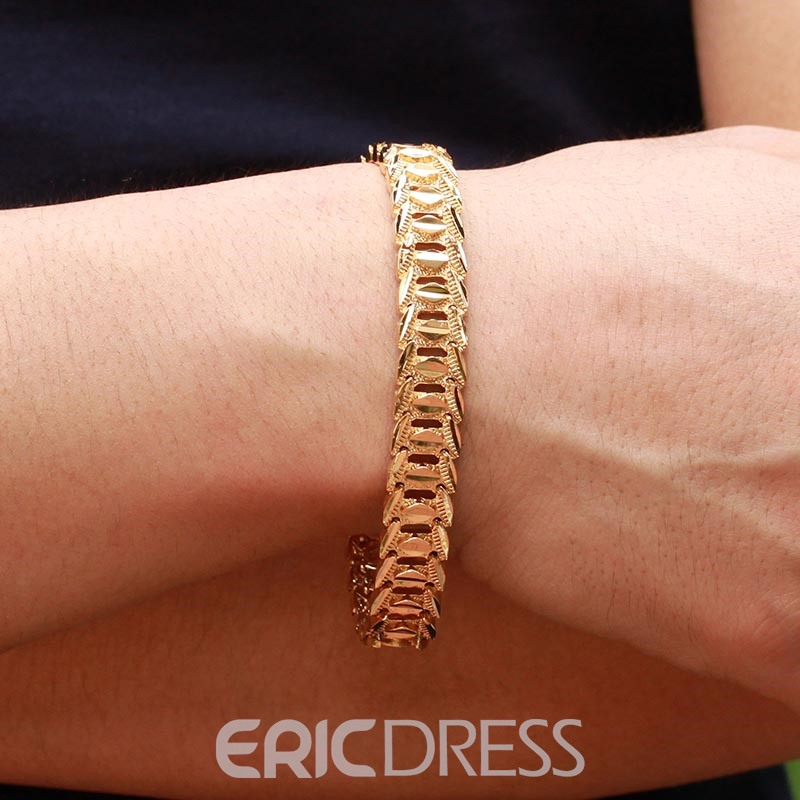 Ericdress 18K Gold Plating High Quality Men's Bracelet