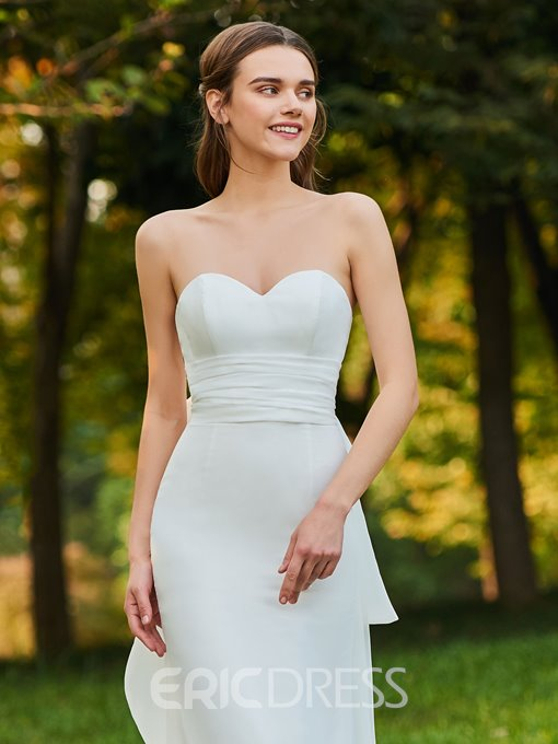 Ericdress Sweetheart Bowknot Sheath Garden Wedding Dress