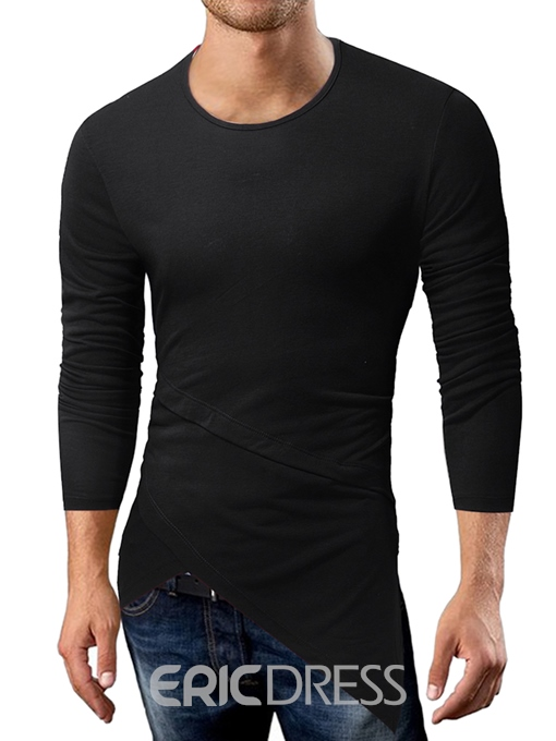 Ericdress Round Neck Men's Slim T-Shirt