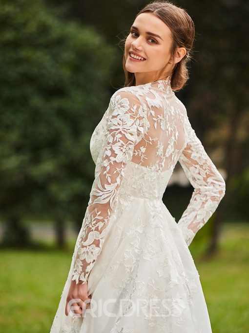 Ericdress Sweetheart Lace Wedding Dress with Jacket