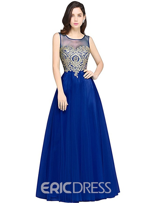 Ericdress Mesh Expansion Floor-Length Maxi Dress