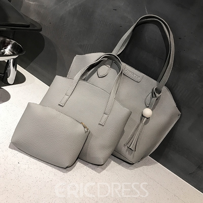 Ericdress Casual Soft PU Zipper Women Handbag