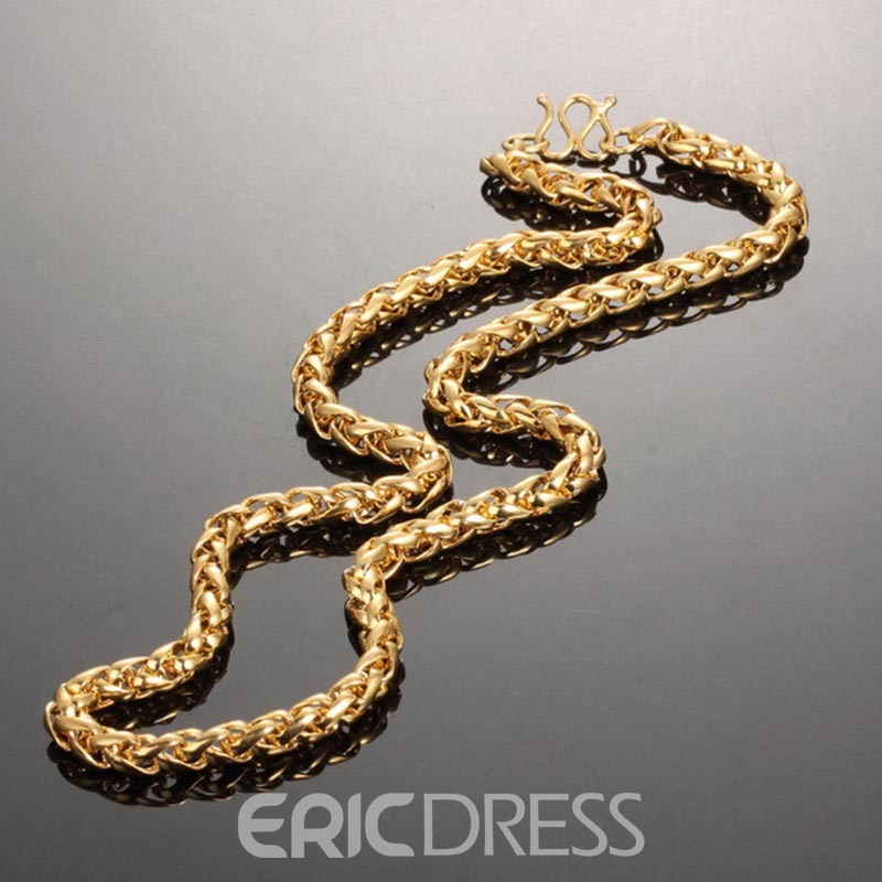Ericdress Concise Men's 18K Gold Plating Necklace