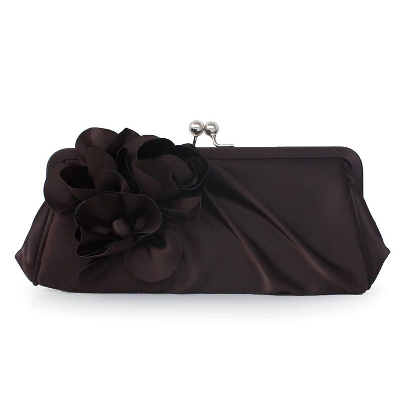 Ericdress Solid Color Floral Decoration Evening Clutch