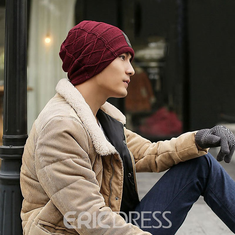 Ericdress Knitting Thicken Hat for Men