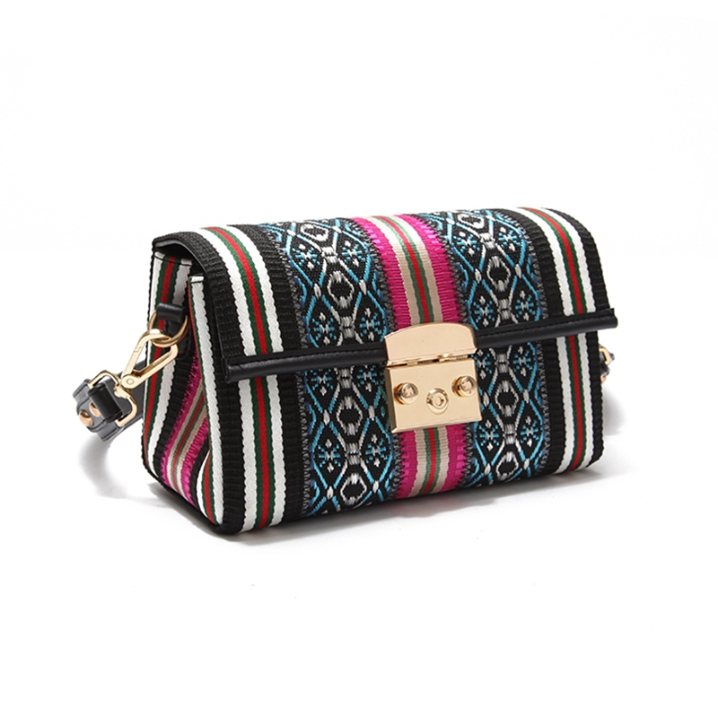 Ericdress Ethnic Style Patchwork Women Crossbody Bag