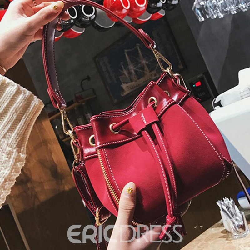 Ericdress Bucket Shape String Shoulder Bag