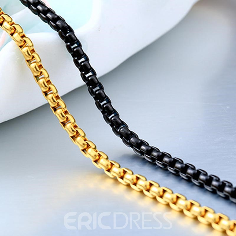 Ericdress Soild Color All Match Hip Pop Necklace for Men