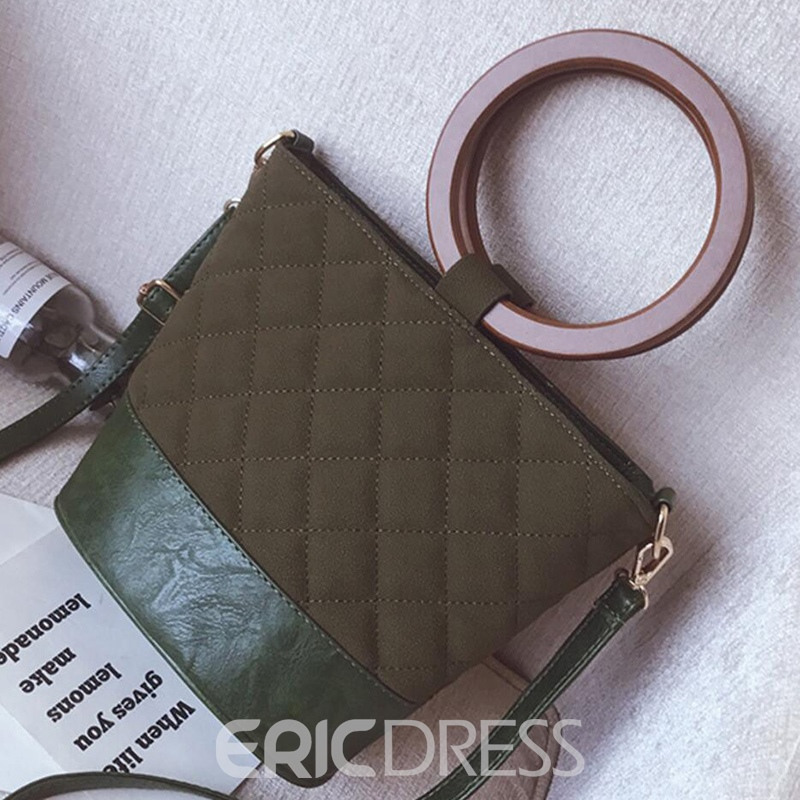Ericdress Circular Ring Handle Quilted Lining Shoulder Bag