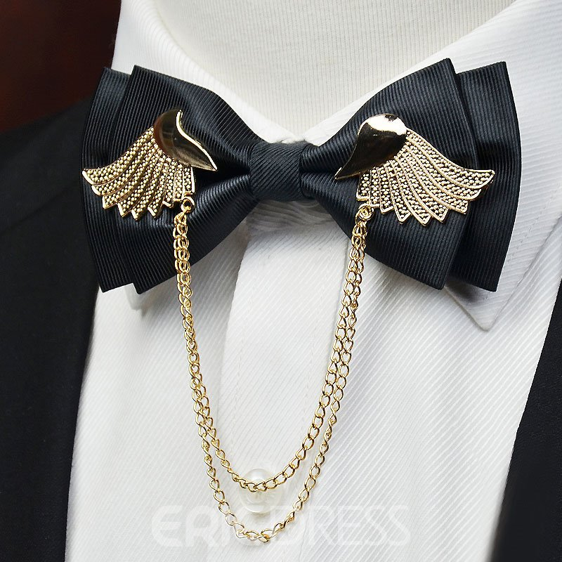 Ericdress Gold Wing British Style Men's Bowtie