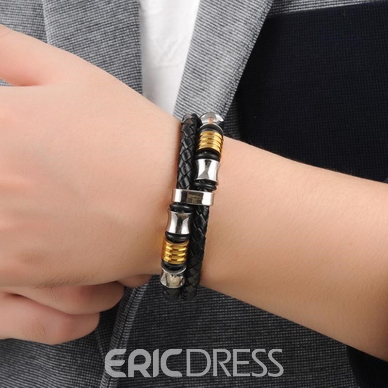 Ericdress Leather Weave Men's Bracelet