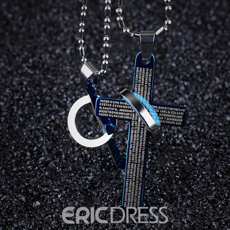 Ericdress Cross Pendant Men's Necklace