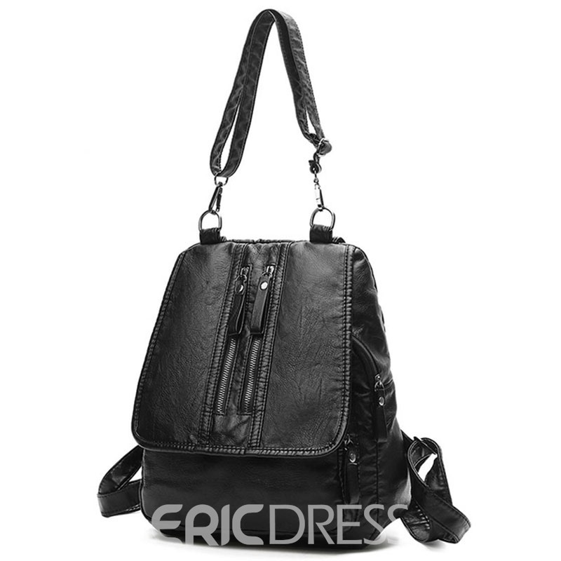 Ericdress Dual-Use Solid Color Women Backpack