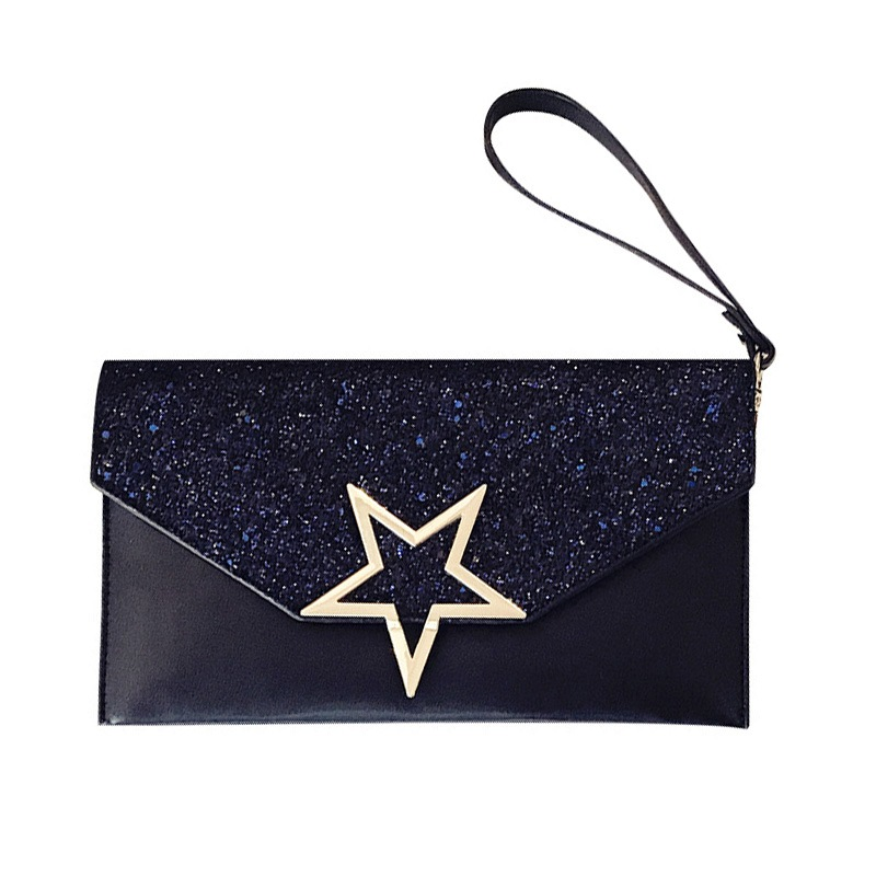 Ericdress Sequins Five-Pointed Star Decoratio Clutch