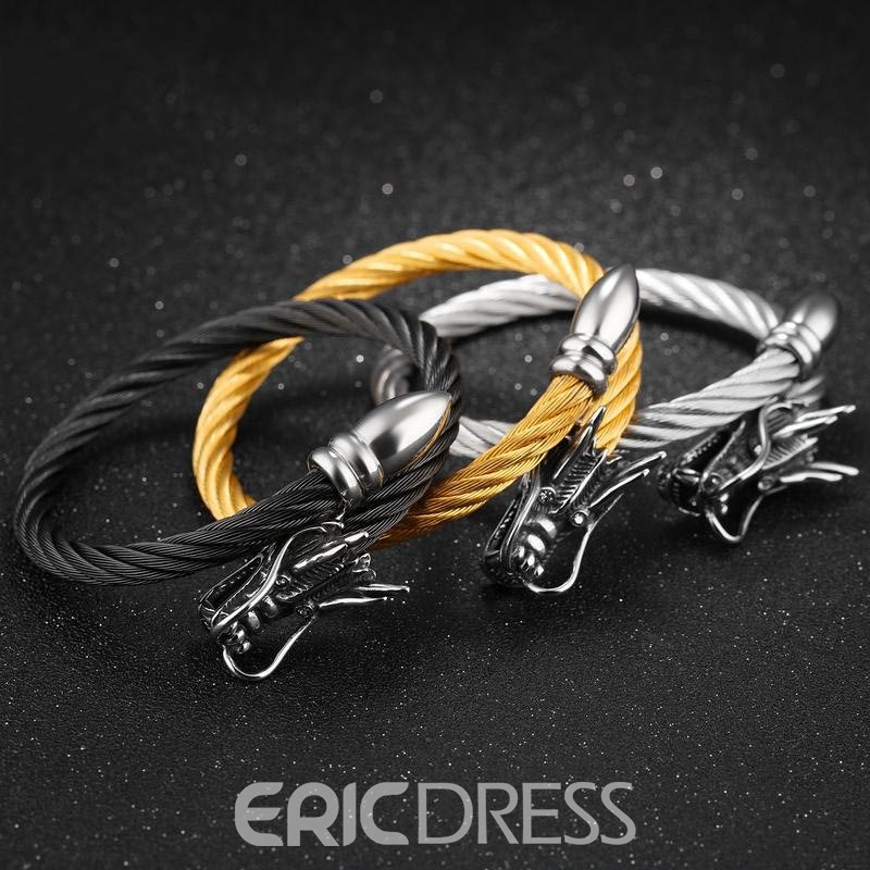 Ericdress Best Seller Titanium Steel Open Bracelet for Men