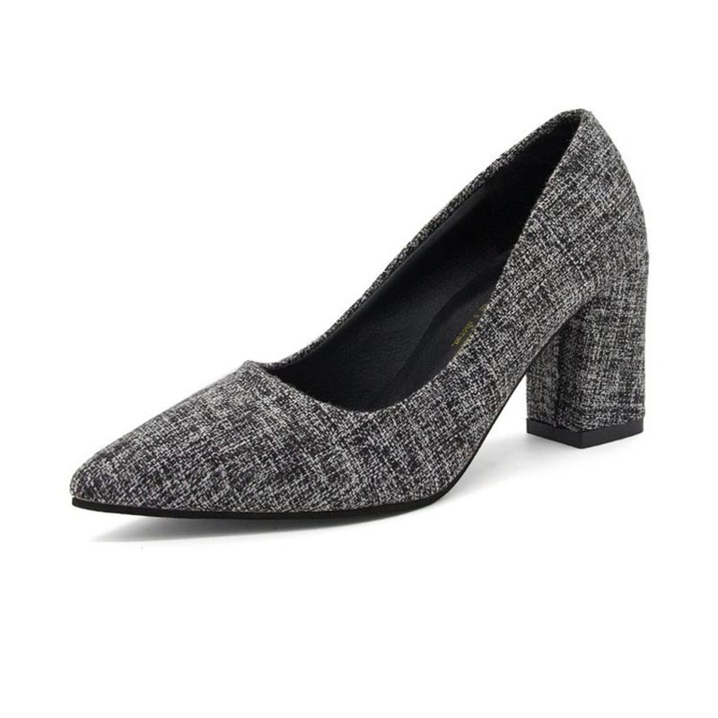 Ericdress Plain Pointed Toe Slip-On Women's Pumps