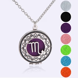 Ericdress Scorpio Womens Ultra Violet Essential Oil Necklace
