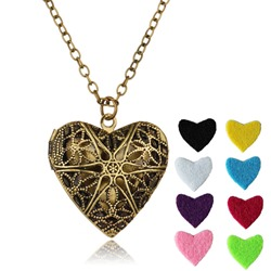 Ericdress Vintage Heart Essential Oil Necklace for Women