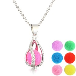 Ericdress Creative DIY Womens Essential Oil Necklace