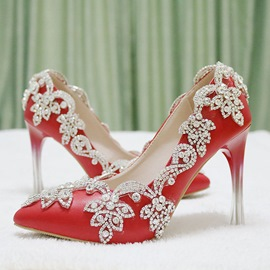 Ericdress Whole Rhinestone Slip-On Stiletto Heel Wedding Shoes