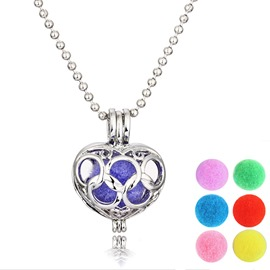 Ericdress Hot Hollow Out Ultra Violet Women's Essential Oil Necklace