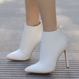Ericdress Plain Pointed Toe Stiletto Heel Wedding Boots