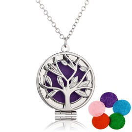 Ericdress Hollow Out Ultra Violet Pendant Essential Oil Necklace
