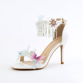 Ericdress Fringe&Beads Decorated Stiletto Heel Wedding Shoes