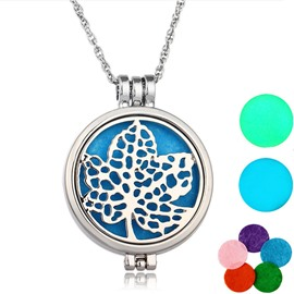 Ericdress Hollow Out Leaf Essential Oil Necklace