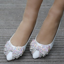 Ericdress Rhinestone Bowknot Plain Wedding Shoes
