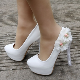 Ericdress Floral Slip-On Platform Stiletto Wedding Shoes
